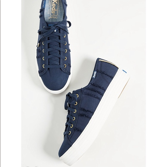 3fe998193e376 NEW • Keds • Triple Kick Eyelash Sneakers Navy 9